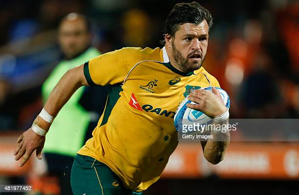 Adam AshleyCooper of Australia drives the ball for a try during a match between Australia and Argentina as part of The Rugby Championship 2015 at...