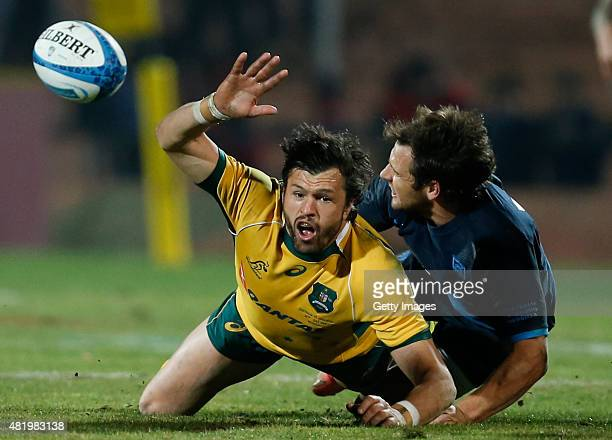Adam AshleyCooper of Australia fights for the ball with Nicolas Sanchez of Argentina during a match between Australia and Argentina as part of The...