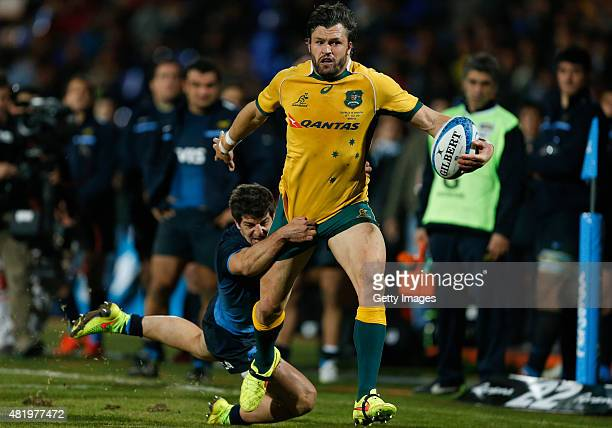 Adam AshleyCooper of Australia fights for the ball with Tomas Cubelli of Argentina during a match between Australia and Argentina as part of The...