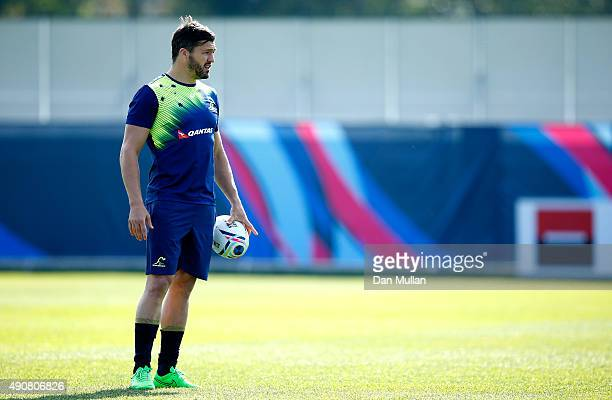 Adam Ashley-Cooper of Australia looks on during a training session at Dulwich College on October 1, 2015 in London, United Kingdom.