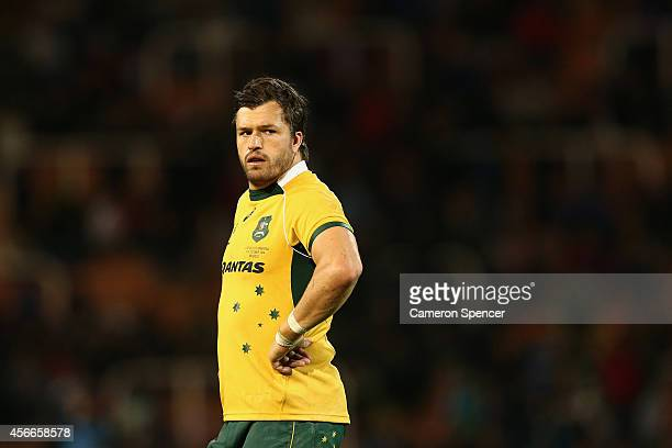 Adam AshleyCooper of the Wallabies looks on during The Rugby Championship match between Argentina and the Australian Wallabies at Estadio Malvinas...