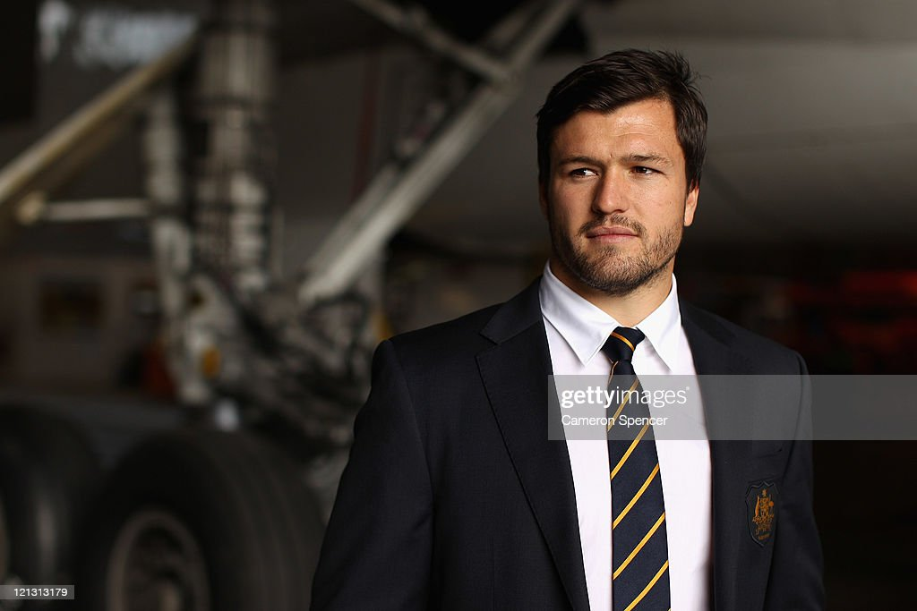 Adam Ashley-Cooper of the Wallabies poses during an Australian Wallabies 2011 Rugby World Cup Squad portrait session at Sydney International Airport on August 18, 2011 in Sydney, Australia.