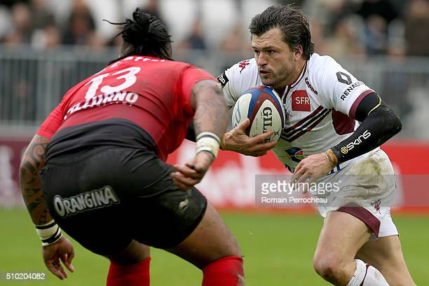 Adam AshleyCooper of Union Bordeaux Begles in action during the Top 14 rugby match between Union Bordeaux Begles and RC Toulon at Stade Matmut...