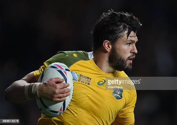 Adam AshleyCooper scores Australia's final try during the Rugby World Cup 2015 SemiFinal match between Argentina and Australia at Twickenham Stadium...