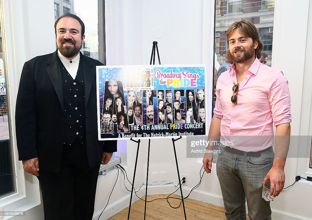 Adam B Shapiro And Chandler Wild Attend The Broadway Sings For Pride Benefit