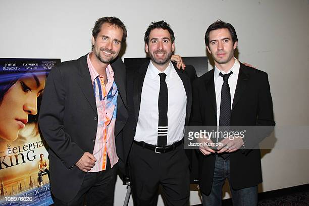 Adam Balazs Seth Grossman and Emanuel Michael attend the premiere of 'The Elephant King' at the Angelika Theater October 17 2008 in New York City