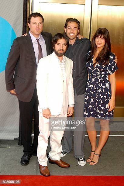 Adam Baldwin Joshua Gomez Zachary Levi and Sarah Lancaster attend NBC Primetime PReview 20072008 Red Carpet Arrivals at Radio City Music Hall on May...