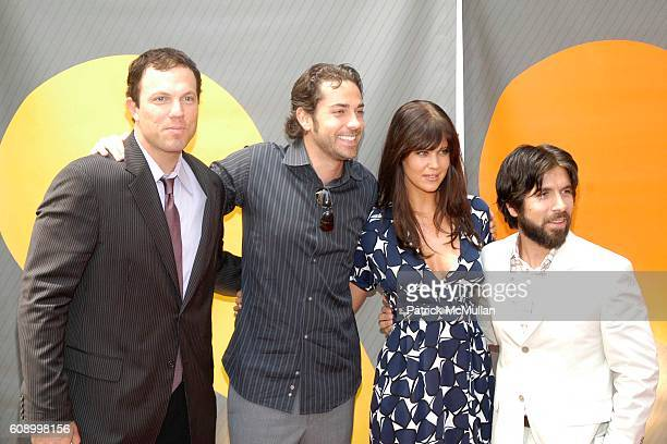 Adam Baldwin Zachary Levi Sarah Lancaster and Joshua Gomez attend NBC Primetime PReview 20072008 Red Carpet Arrivals at Radio City Music Hall on May...