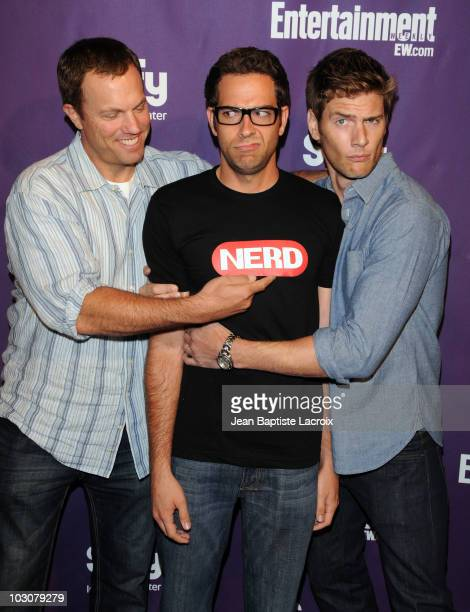 Adam Baldwin Zachary LeviRyan McPartlin attends the EW and SyFy party during ComicCon 2010 at Hotel Solamar on July 24 2010 in San Diego California