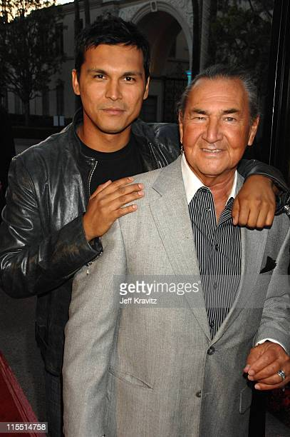 Adam Beach and August Schellenberg during Bury My Heart at Wounded Knee Los Angeles Premiere Red Carpet at Paramount Theater Paramount Pictures...