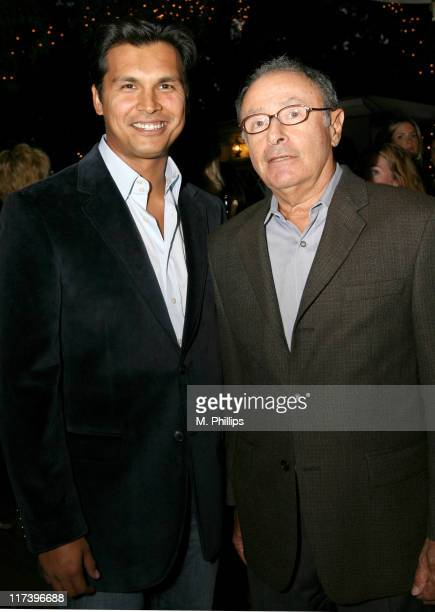 Adam Beach and Peter Bart during Palm Springs International Film Festival and Los Angeles Confidential Cocktail Reception at Private Home in Beverly...