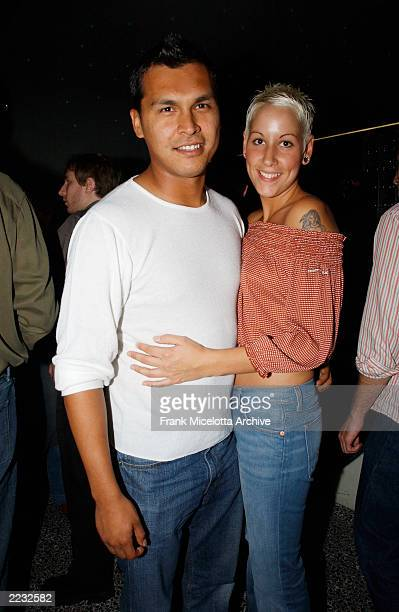 Adam Beach and Tara Mason at the party at Pressure following the New York premiere of the Fine Line Features film Cherish at UA Union Square in New...