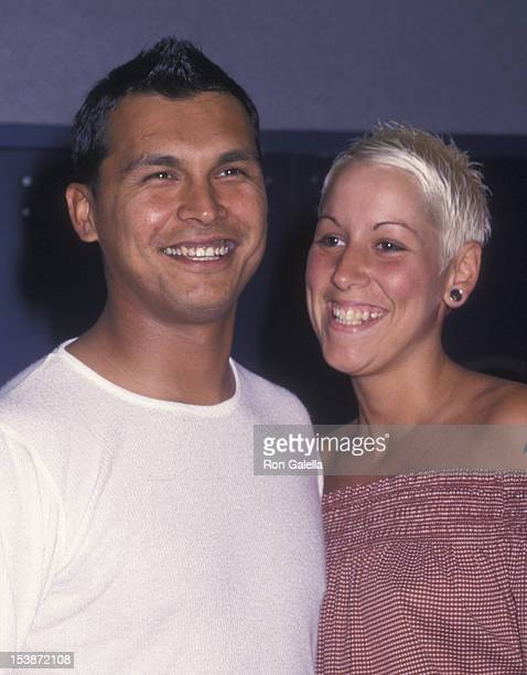 Adam Beach and Tara Mason attend the premiere of 'Cherish' on June 5 2002 at the United Artists Union Square Theater in New York City