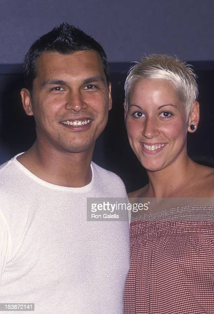 Adam Beach and Tara Mason attend the premiere of Cherish on June 5 2002 at the United Artists Union Square Theater in New York City