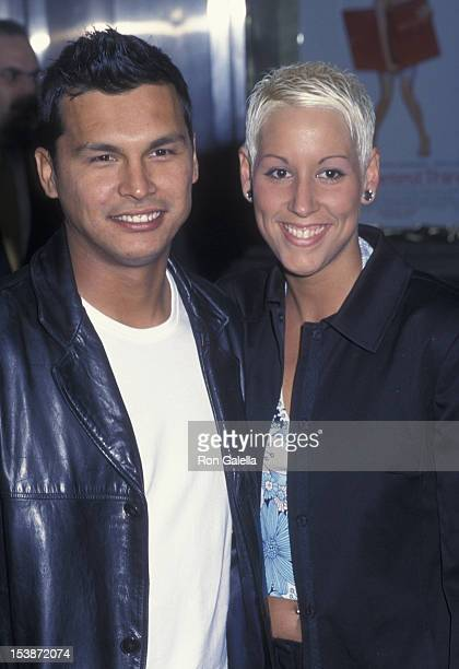 Adam Beach and Tara Mason attends the premiere party for The Sweetest Thing on April 8 2002 at Roseland in New York City