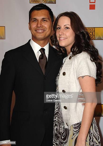 Adam Beach and Tara Mason during 12th Annual Critics' Choice Awards Arrivals at Santa Monica Civic Center in Santa Monica California United States