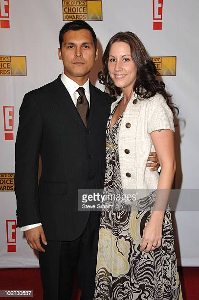 Adam Beach and Tara Mason during 12th Annual Critics' Choice Awards Arrivals at Santa Monica Civic Center in Santa Monica California United States