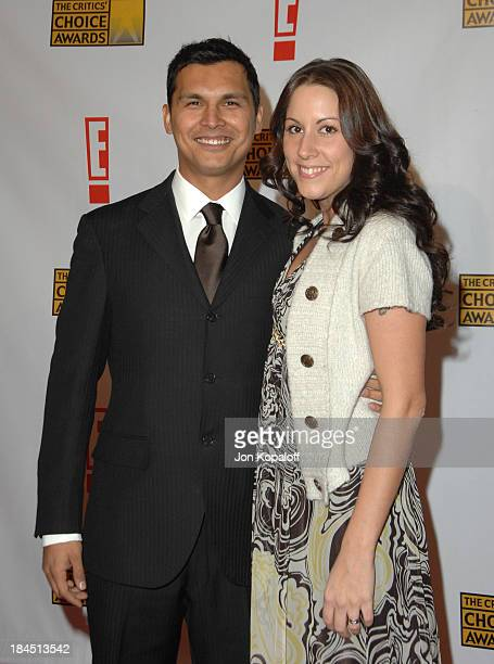 Adam Beach and Tara Mason during 12th Annual Critics' Choice Awards Arrivals at Santa Monica Civic Auditorium in Santa Monica California United States