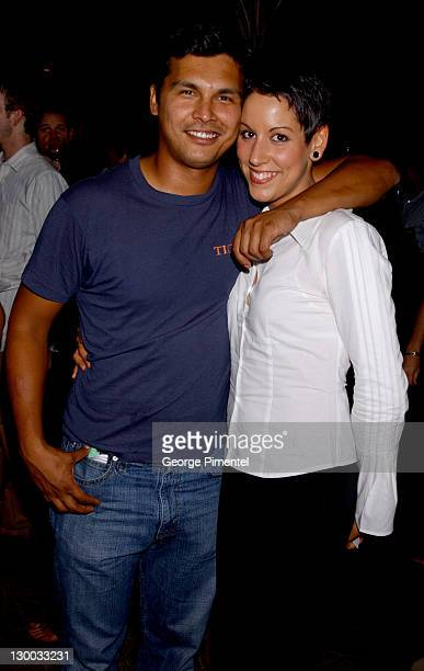 Adam Beach and Tara Mason during 2002 Toronto Film Festival Instyle Party at Windsor Arms Hotel in Toronto Ontario Canada