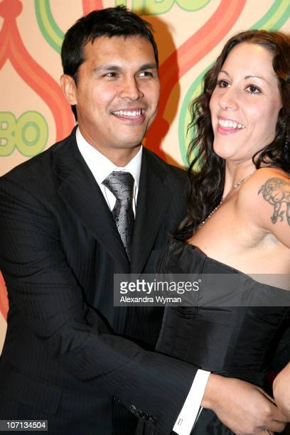 Adam Beach and Tara Mason during HBO's 2007 Golden Globe After Party at Beverly Hilton in Beverly Hills California United States