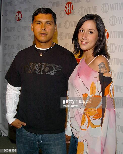 Adam Beach and Tara Mason during The 57th Annual Emmy Awards Showtime After Party in Los Angeles California United States