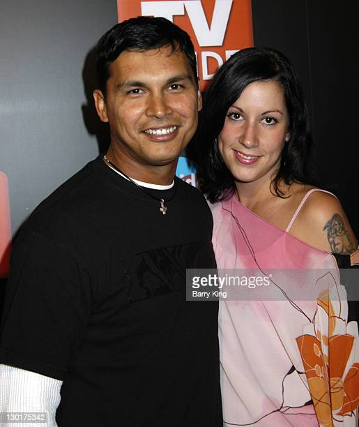 Adam Beach and Tara Mason during The 57th Annual Emmy Awards TV Guide and Inside TV After Party Arrivals at Hollywood Roosevelt Hotel in Hollywood...