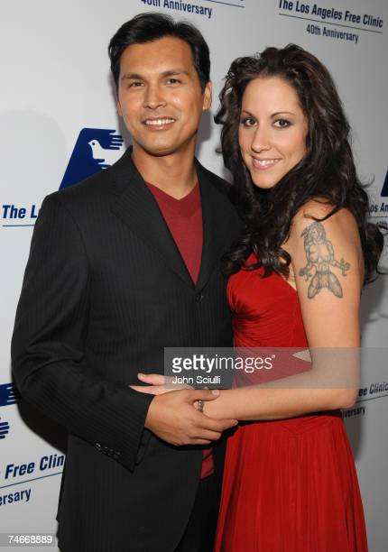 Adam Beach and wife Tara Mason at the Beverly Hilton Hotel in Beverly Hills California