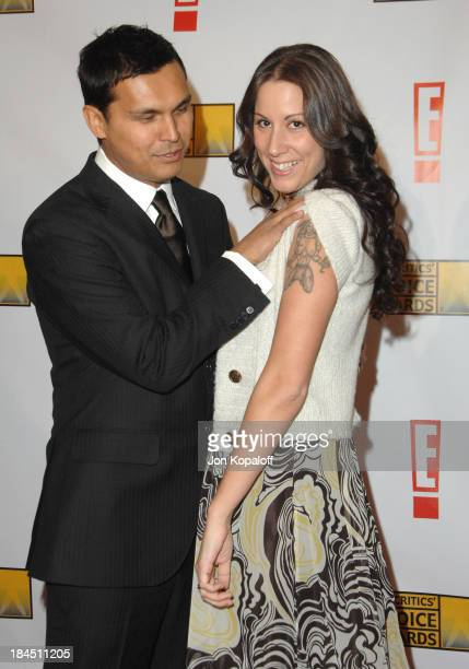 Adam Beach and wife Tara Mason during 12th Annual Critics' Choice Awards Arrivals at Santa Monica Civic Auditorium in Santa Monica California United...