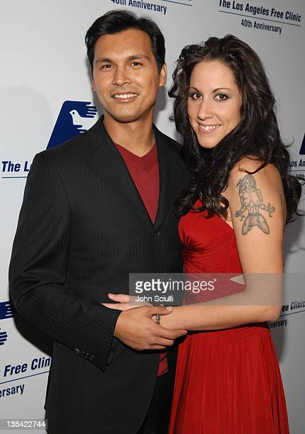 Adam Beach and wife Tara Mason during Los Angeles Free Clinic Annual Dinner Gala Honoring Paramount Pictures Corporation Chairman and CEO Brad Grey...