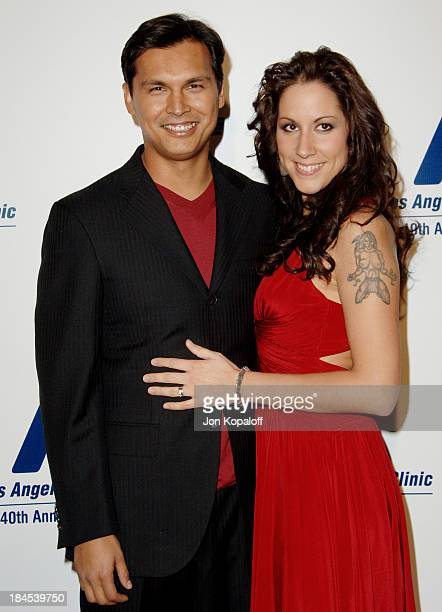 Adam Beach and wife Tara Mason during The Friends Of The LA Free Clinic Annual Dinner Gala at Beverly Hilton Hotel in Beverly Hills California United...