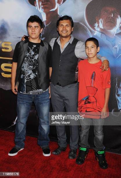 Adam Beach arrives at the 'Cowboys Aliens' World Premiere at the San Diego Civic Theatre on July 23 2011 in San Diego California