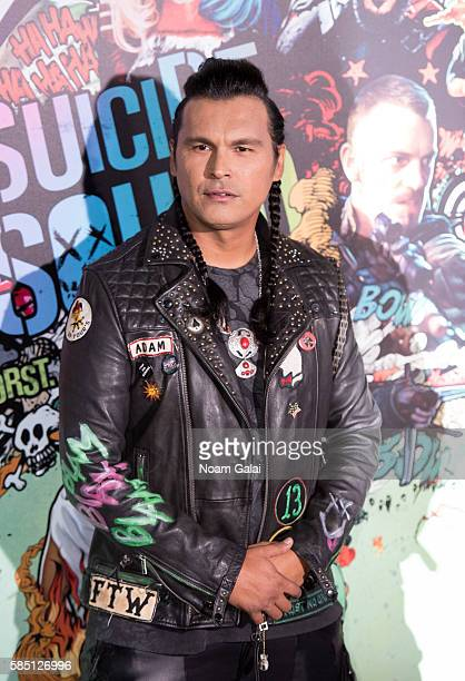 Adam Beach attends the world premiere of 'Suicide Squad' at The Beacon Theatre on August 1 2016 in New York City