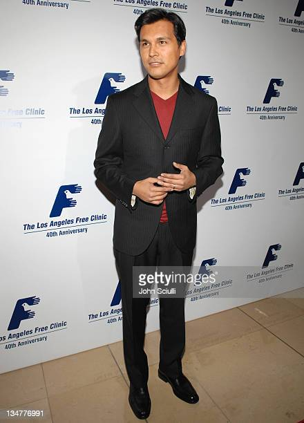 Adam Beach during Los Angeles Free Clinic Annual Dinner Gala Honoring Paramount Pictures Corporation Chairman and CEO Brad Grey Red Carpet at Beverly...