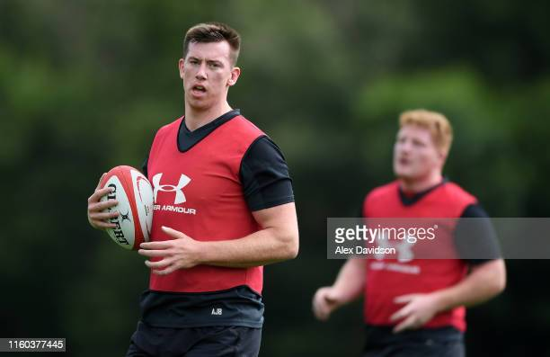 Adam Beard of Wales during the Wales training session held at the Vale Resort on July 06 2019 in Cardiff Wales