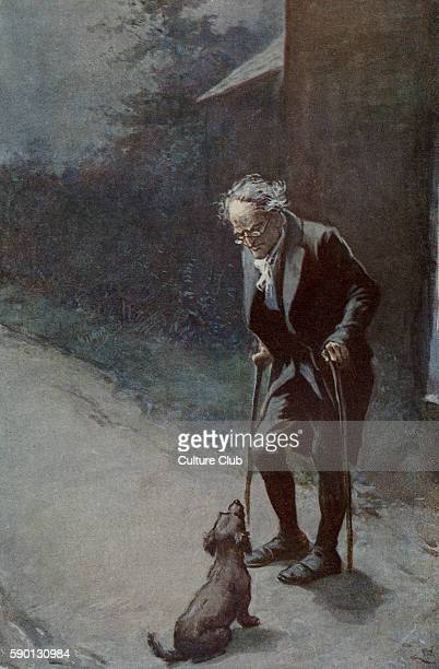 Adam Bede by George Eliot Illustrations by Gordon Browne Bartle Massey and his dog Vixen Caption reads 'Well well Vixen you foolish wench' GE was a...
