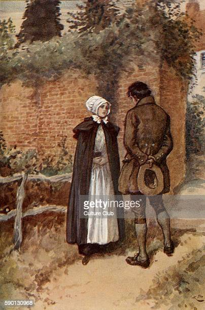 Adam Bede by George Eliot Illustrations by Gordon Browne Dinah and Seth Caption reads 'We've nothing to do but to obey and to trust' GE was a pen...