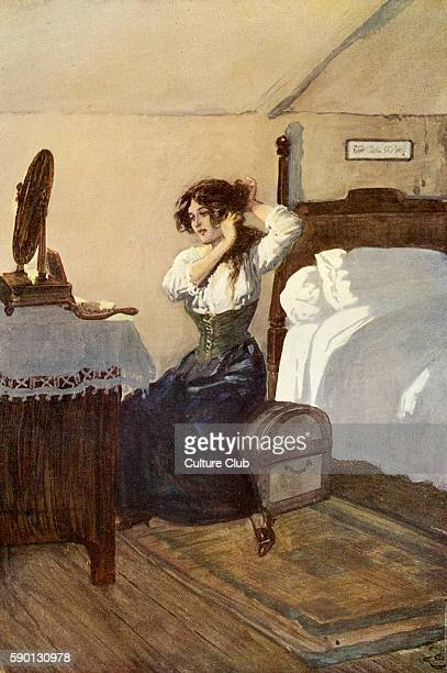 Adam Bede by George Eliot Illustrations by Gordon Browne Hetty Sorrel Caption reads 'She was going to let down her hair' GE was a pen name for Mary...