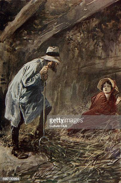 Adam Bede by George Eliot Illustrations by Gordon Browne Hetty Sorrel is discovered sleeping in the barn after running away Caption reads 'Why what...