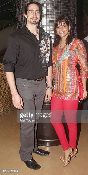 Adam Bedi and Nisha Harale at Aamby Valley India Bridal Week 2011 fashion show held in Mumbai