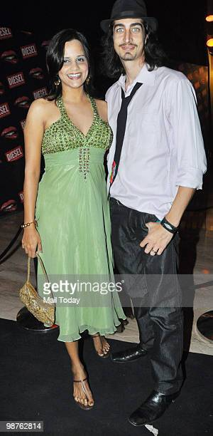 Adam Bedi and Nisha Harale at the Indian market launch of Italian fashion brand Diesel in Mumbai on April 29 2010