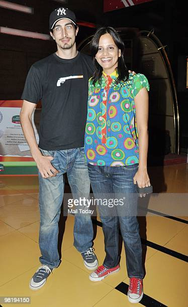 Adam Bedi and Nisha Harale at the premiere of the Hollywood film Clash of The Titans in Mumbai on March 31 2010