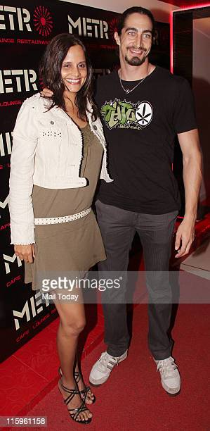 Adam Bedi with Nisha Harale at the launch party of owner Rohan Hegde's 'Metro Cafe Lounge Restaurant' in Mumbai on 10th June 2011