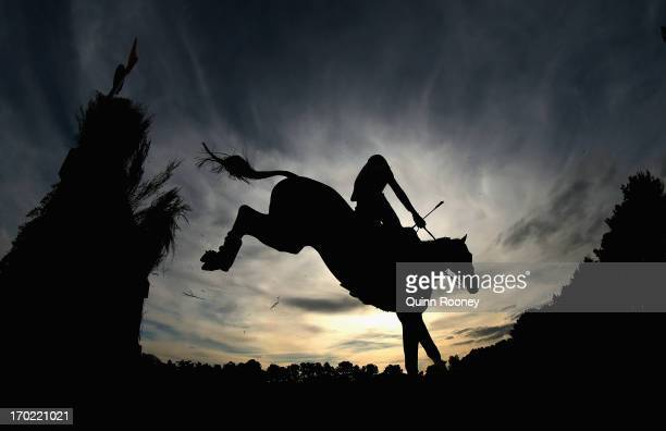 Adam Benson riding Enthusiast competes in the Cross Country during the Melbourne International Three Day Event at Werribee Park Mansion and the...