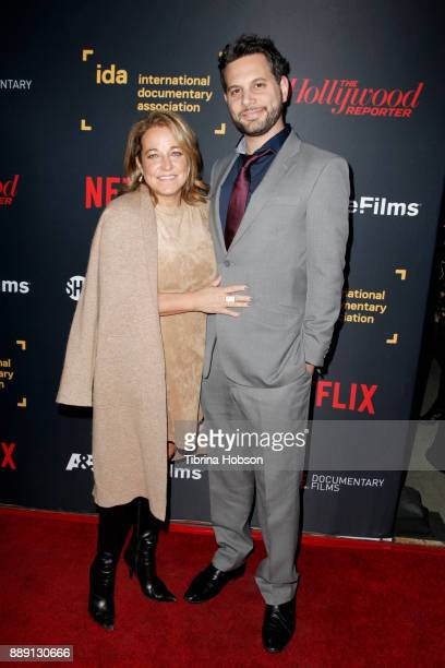 Adam Benzine and Sue Turley at the 33rd Annual IDA Documentary Awards at Paramount Theatre on December 9 2017 in Los Angeles California