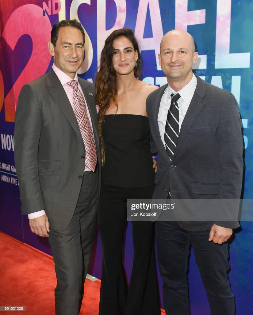 Adam Berkowitz, Rona-Lee Shim'on and Larry Tanz attend the 32nd Israel Film Festival In Los Angeles Sponsor Luncheon at Four Seasons Hotel Los Angeles at Beverly Hills on May 31, 2018 in Los Angeles, California.