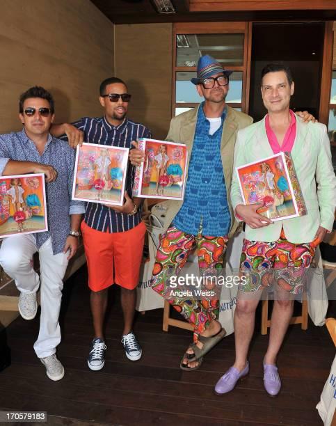 Adam Bernhard Josiah Bell Jonathan Skow and Cameron Silver attend the HauteLook luncheon celebrating Malibu Barbie By Trina Turk at Nobu Malibu on...