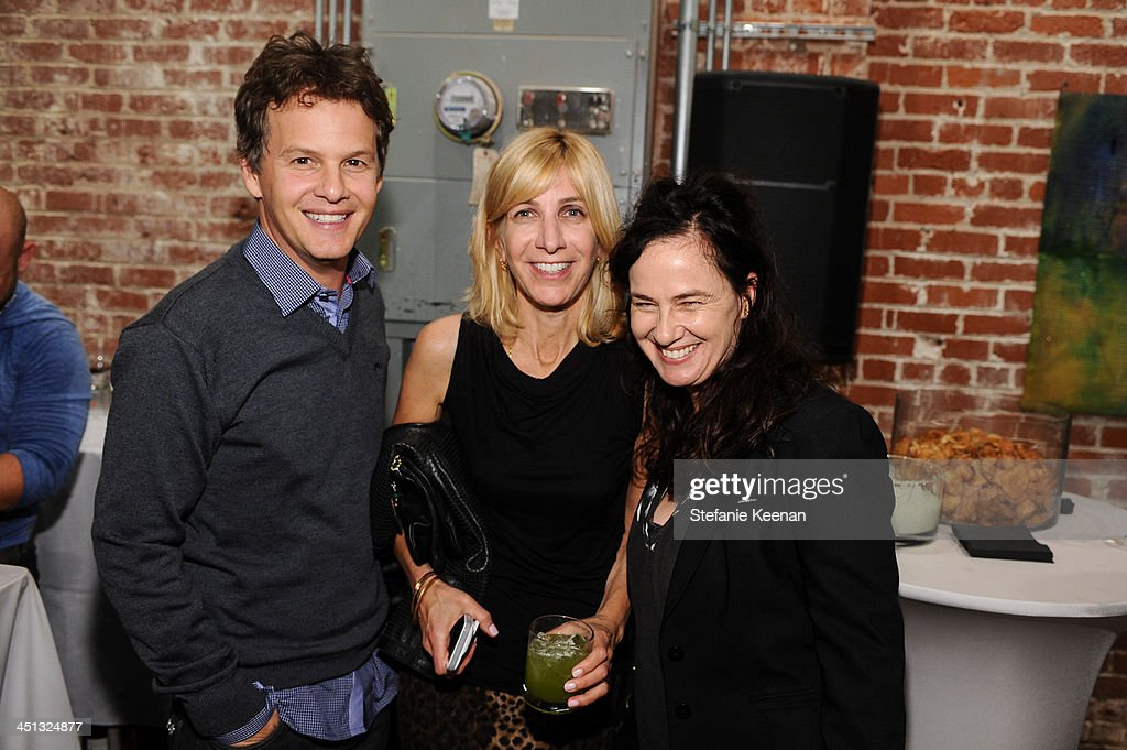Adam Bisk, Leslie Rubenoff and Nancy Jenkins attend The Rema Hort Mann Foundation LA Artist Initiative Benefit Auction on November 21, 2013 in Los Angeles, California.