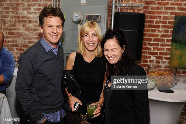 Adam Bisk Leslie Rubenoff and Nancy Jenkins attend The Rema Hort Mann Foundation LA Artist Initiative Benefit Auction on November 21 2013 in Los...