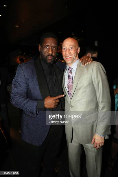 Adam Blackstone and Ted Reid attend the Annual PreGrammy Reception hosted by Ted Reid at STK on February 9 2017 in Los Angeles California