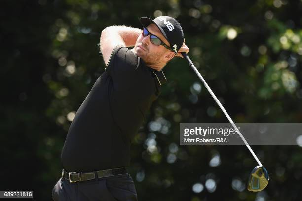 Adam Bland of Australia hits his tee shot on the 6th hole during the final round of Mizuno Open at JFE Setonaikai Golf Club on May 28 2017 in Okayama...
